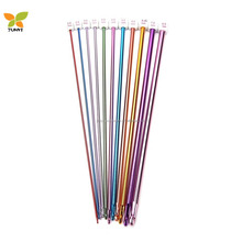 11 Pieces Afghan colorful Crochet Hooks Aluminum Knitting Needles Set