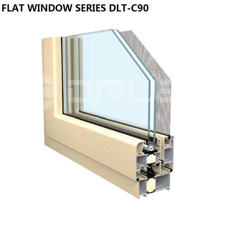 Permanent protection against bugs Aluminium window with security mesh screen