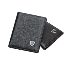 Hot Selling Short Top Layer Genuine Leather Rfid Wallet Men