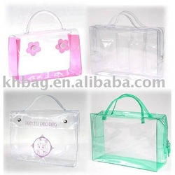 pvc zipper hand bag