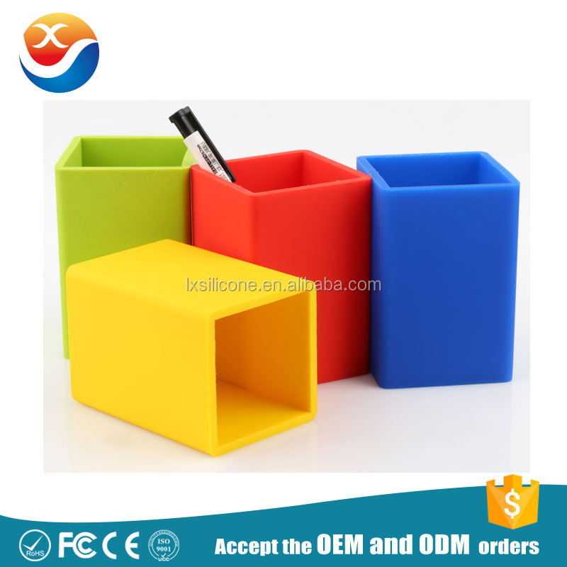Wholesale Colorful Silicone Pen Holder,Silicone Pen Brush Pot