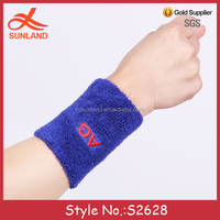 S2628 new unisex terry toweling embroidery design sports protector wrist support for typing