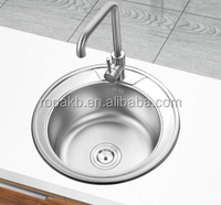 R490 stainless steel dining room small corner wash basin