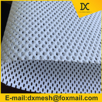 100% nylon breathable mesh fabric for belt very stiff mesh cloth