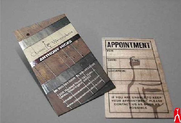 Classical designed paper business card printing/ paper printed tips card for appointment