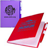 Promotional PVC cover clear-view stationary exercise notebook with ball pen