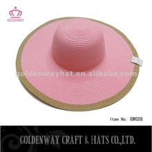 Summer Floppy Hats paper mix color sun hat for lady beach party cheap new