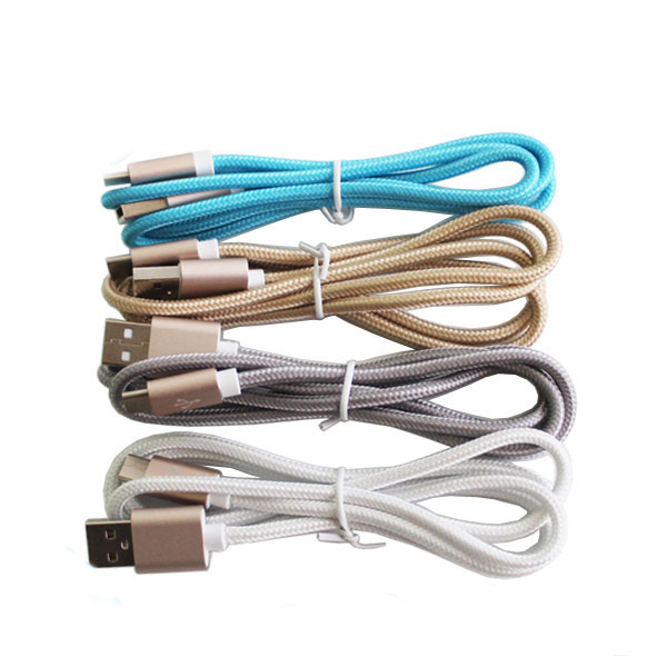 Colorful Flat Noodle Micro USB Cable Charger Sync Data Cord For Andriod phone