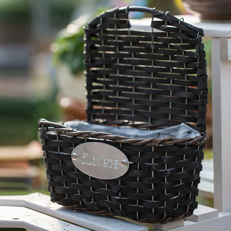 Quick delivery natural man-made natural plant weave craft wicker craft basket