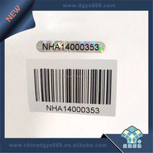 Anti-counterfeiting barcode sticker custom label