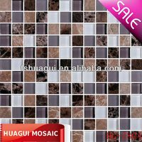 ancient stone frosted glass mosaic HG-Z804