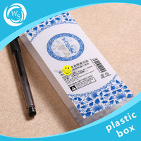 business card plastic box