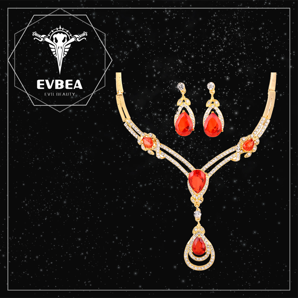 EVBEA valuable big uncut diamond necklace sets