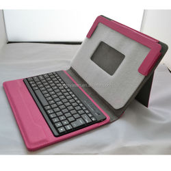 Custom design color leather removeable bluetooth keyboard case for iPad,for ipad cases with keyboard