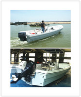 22' CE Fiberglass Leisure Fishing Boat for Sale