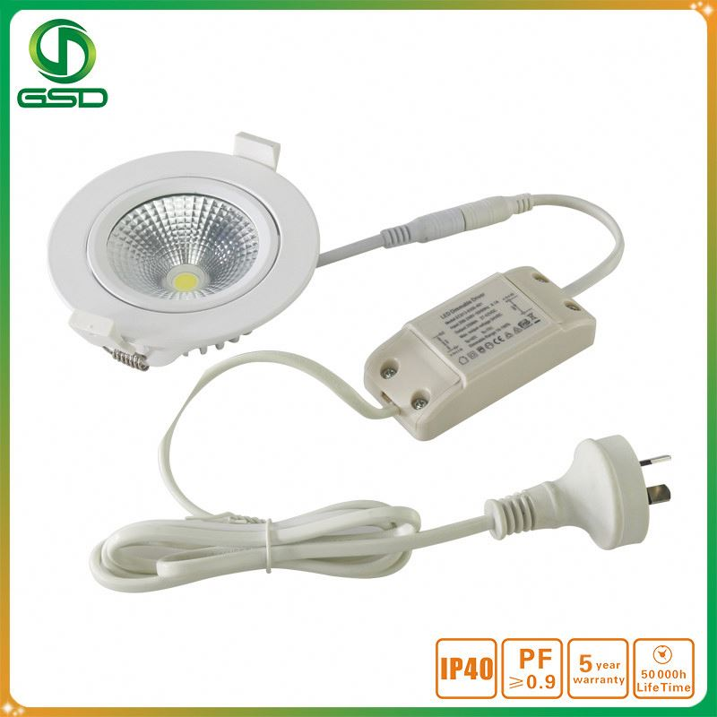 At wholesale price UL approved COB trimless led downlight