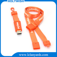 Polyester custom printing lanyard china wholesale with usb flash drives