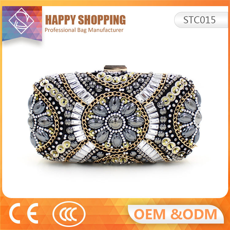 Factory Directly gem Diamonds clutch bag for Evening party
