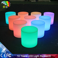 40*40cm round colorful LDPE led funny bar stools
