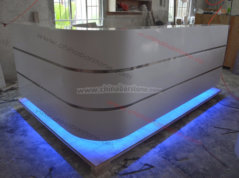 Front Counter Led reception desk for beauty salon