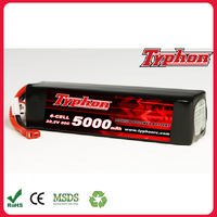 Fly 50C 6S 5000mAh 22.2V LiPo Battery for Quadcopter Helicopter airplane