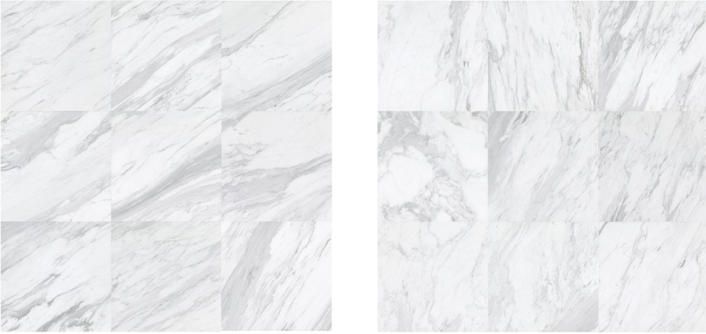 24X24 SGS/ISO 900 nano snow white carrara marble look carrara marble look porcelain floor tile price for project use