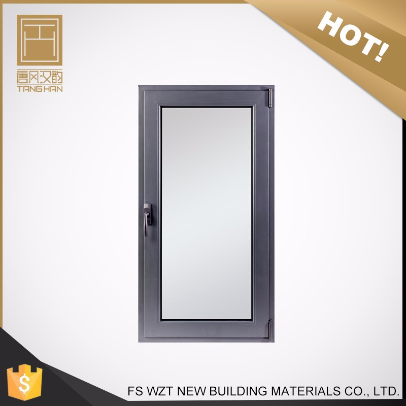 China supplier shinning silver iron-gray color standard size aluminium tilt and turn casement window