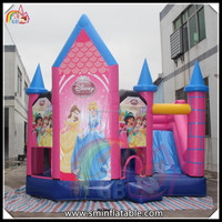 high quality and fashion toy inflatable princess bouncy castle for happy kids