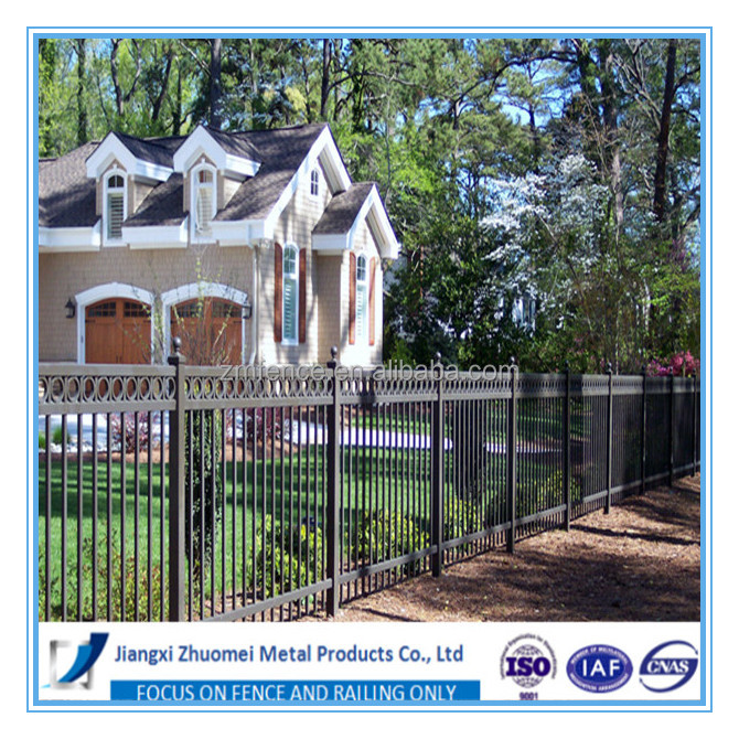 Top wholesale steel fence,wrought iron fence panels,stainless steel fence panels with black coating for ornaments