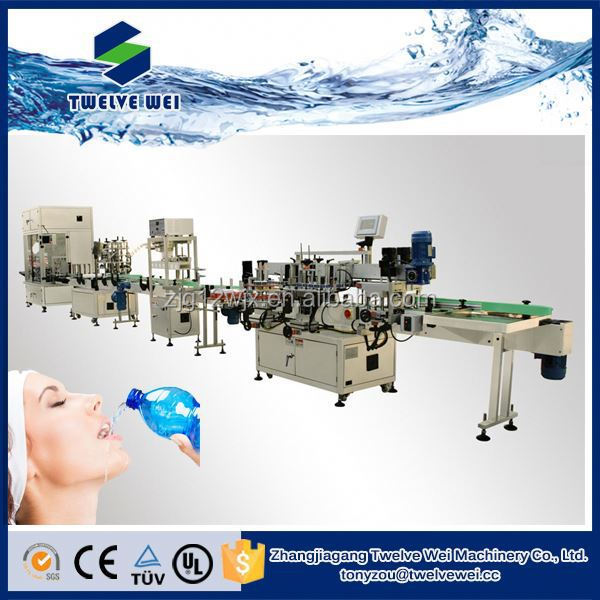 Plastic Bottle Packaging Automatic Water Bottling Machine For Drinking Water Filling