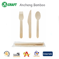 Degradable disposable tableware set,100% compostable birth wooden utensils cutlery