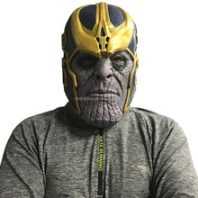 The Avengers Infinity War Mask Cosplay Thanos Mask Latex Helmet Halloween Mask
