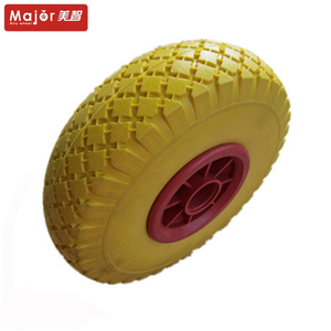 10 inch solid pu foam wheel rubber tire for hand trolley