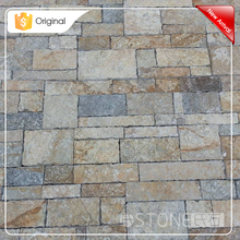 2015 New Design Low Price Double Color Limestone Wall Cladding Stone Hand Chisel Edge
