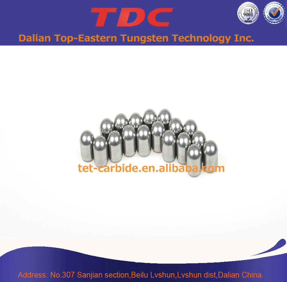 Ground carbide drilling button bit for hard rock