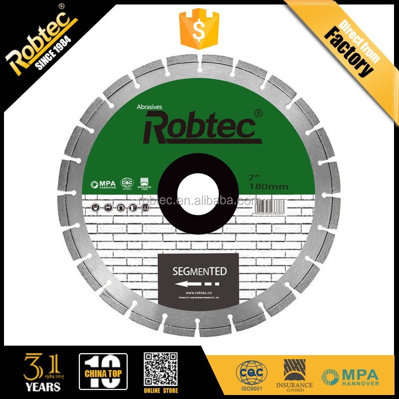 Hot Sale ROBTEC Diamond Saw Blade Tools For Cutting Marble, High Quality Diamond Saw Blade for Granite Cutting