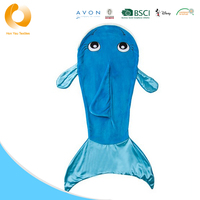 Soft Shaker Flannel Tails Dolphin Blanket For Kids
