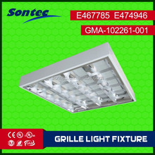 4X18W T8 fluorescent lighting LED grille lamp