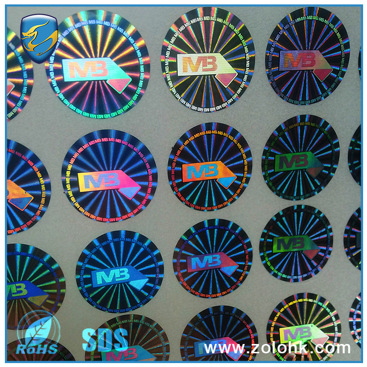 highly tamper evident Original holographic self adhesive label
