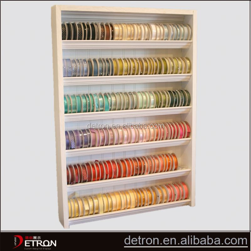 Wooden flooring ribbon display rack