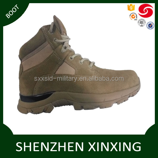 Oxford suede leather upper steel toe version water-proof army desert boots tactical / outdoor army boots coyote brown