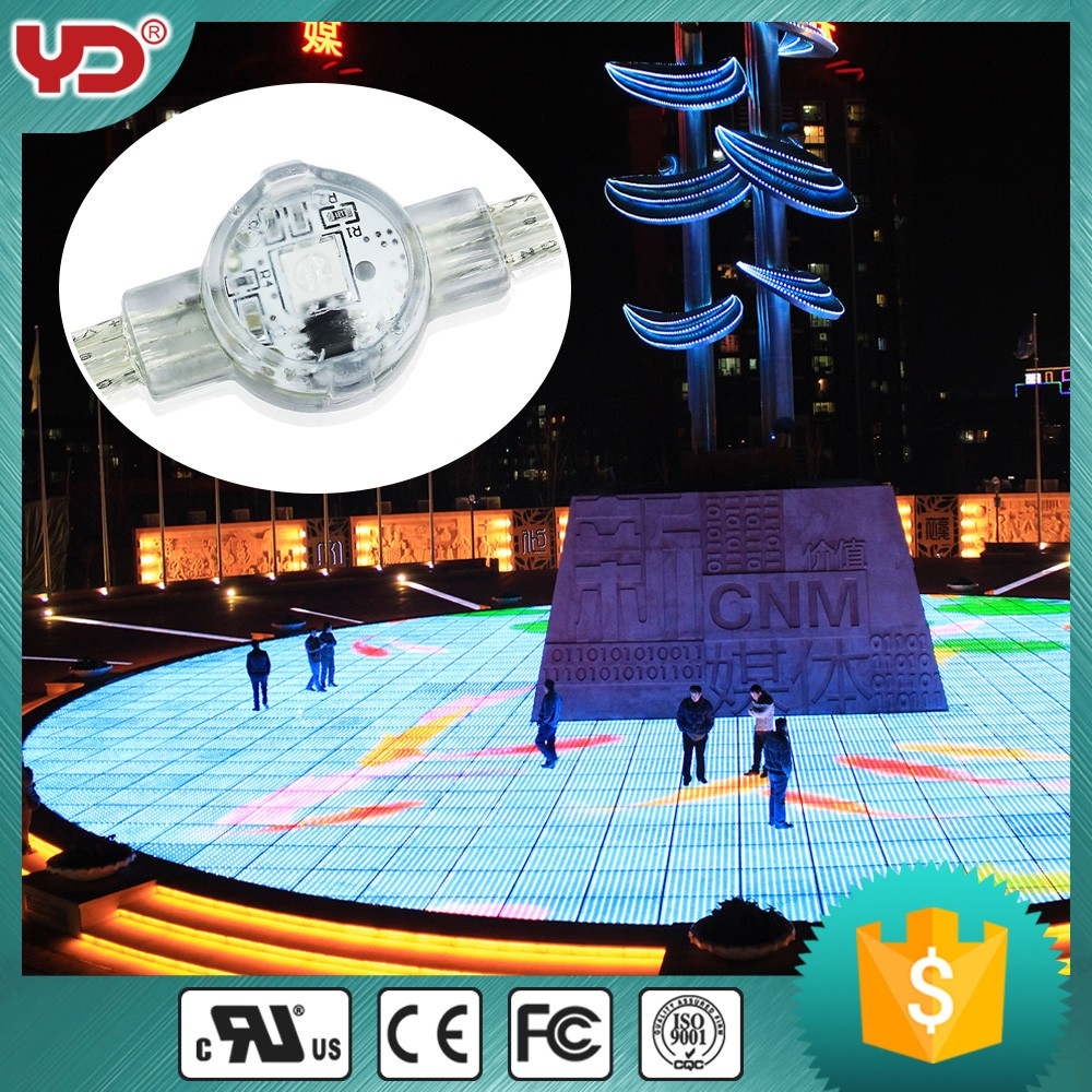 ip68 digital rgb led underground light with ul approved city color light