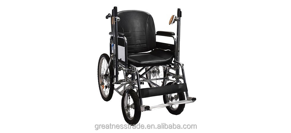 Steel wheelchair disabled hand operated wheelchair Gerontal patient Strengthen hand power Pneunatic tyre /Arm-moving wheelchair