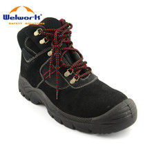 Feet protective CE EN 20 345 suede leather safety work laced-up shoes