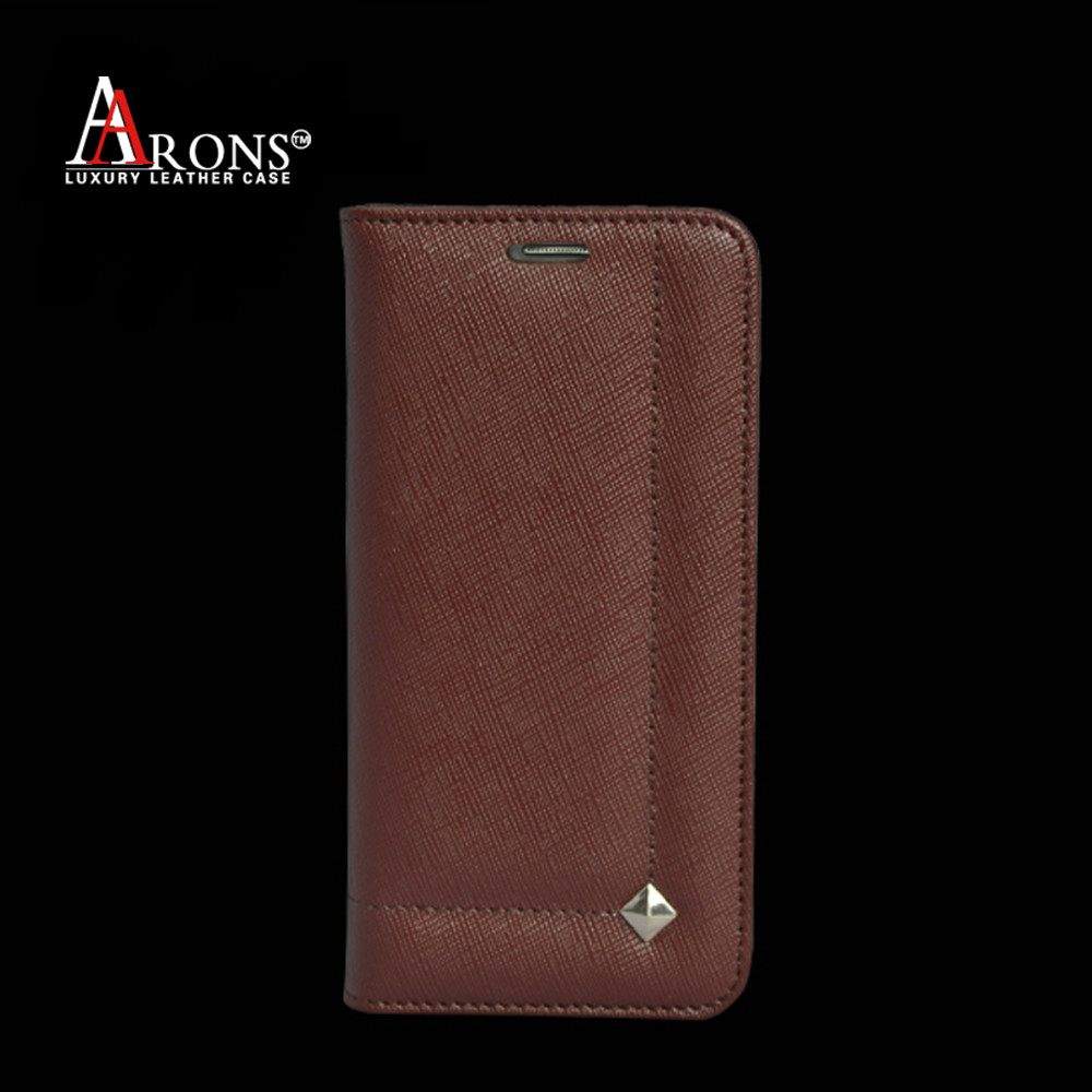 Cross line pattern leather cell phone case for samsung s6 edge case