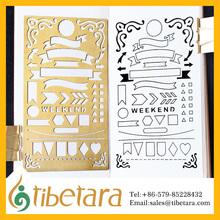 "4x7""Journal Planner Stencil,journal stencils,tibetara,Brass,for a5 Regular Traveler's Notebook"
