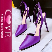 wholesale trendy 2015 colorful high heels sandals shoes women fashion