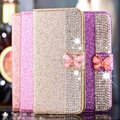 Fashion Diamond Bling bling leather case for iPhone 7, PU flip leather pouch for iPhone 7 Plus