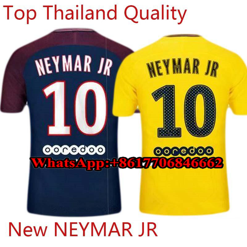 Plus size S~ 2XL 3XL 4XL psg soccer jersey for men neymar jr 10 17/18 paris football shirt top thailand quality T-shirts jerseys