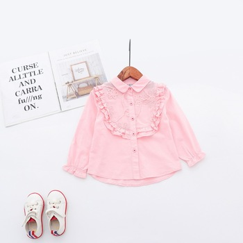 Girls T-shirt Kids Tees Baby Child Spring Tops Children Long Sleeve Stitching Cotton Autumn Shirt infant newborn Girl Blouses